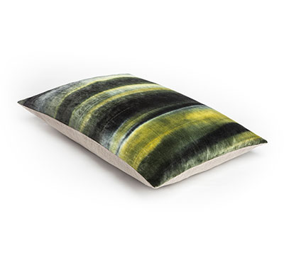 Velvet Cushion Gradient Moss Inke