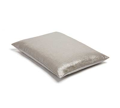 Cushion Silver coated linen