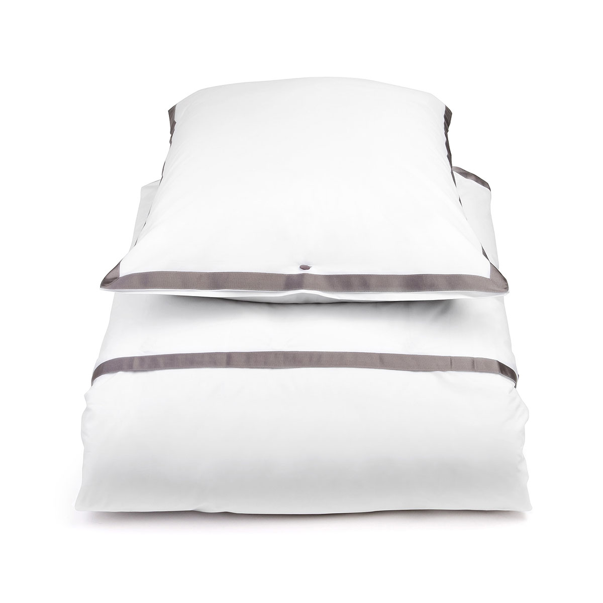 Mrs Me Home Couture Duvet Cover Set Contour White Taupe