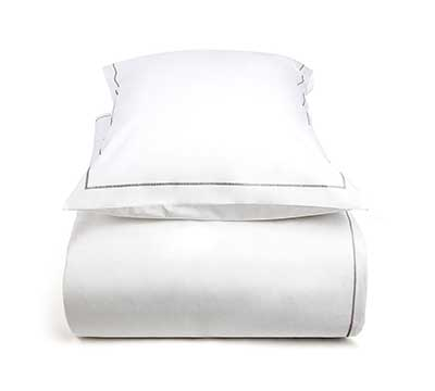duvet cover set Zipper White