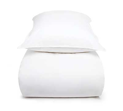 Mrs.Me new product duvet cover set white sateen 600 thread count