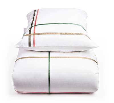 duvet cover set Check Please white