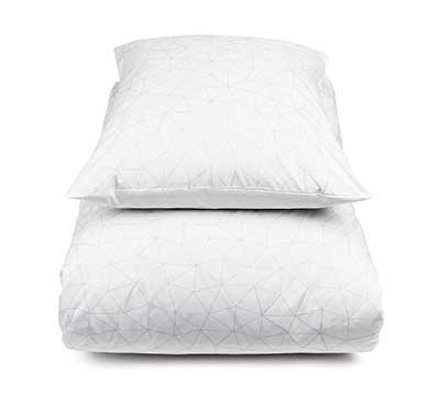 duvet cover set Kaleidoscope White
