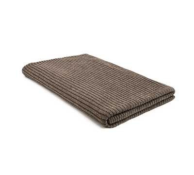 Blanket Knitted Mohair Rib Dark Taupe